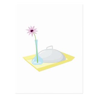 Bandeja do pequeno almoço cartão postal