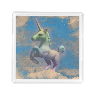 Bandeja do perfume do unicórnio (azul de Sandy)
