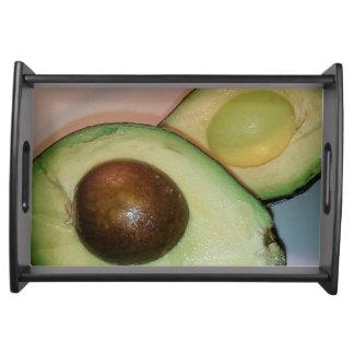 Bandeja do serviço do abacate