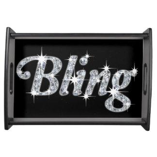 Bandeja do serviço do design de Bling