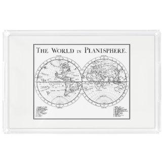 Bandeja do serviço do Planisphere