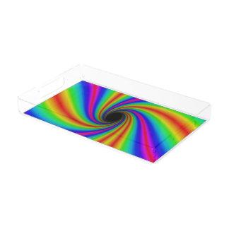 Bandeja do serviço do redemoinho do arco-íris do