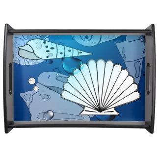 Bandeja do serviço do verão do oceano do Aqua dos