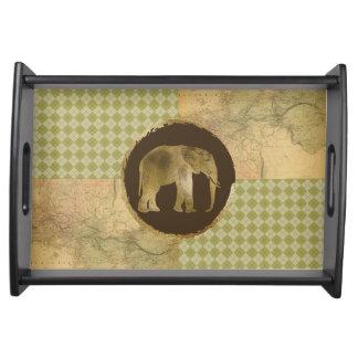 Bandeja Elefante africano no mapa e no Argyle