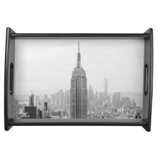 Bandeja Empire State Building preto e branco Manhattan