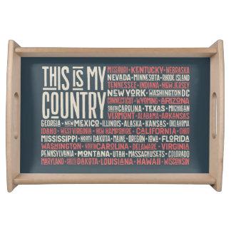 Bandeja Este é meu país