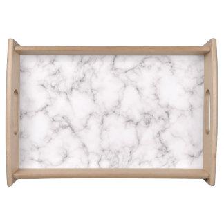 Bandeja Estilo de mármore elegante