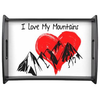 Bandeja Eu amo minhas montanhas!