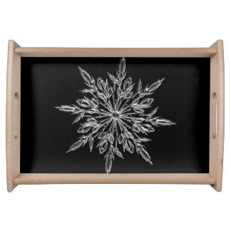 Bandeja Floco de neve perfeito para o feriado do Natal