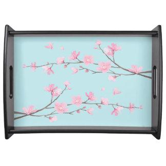 Bandeja Flor de cerejeira - azul-céu