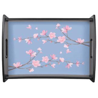Bandeja Flor de cerejeira - azul da serenidade