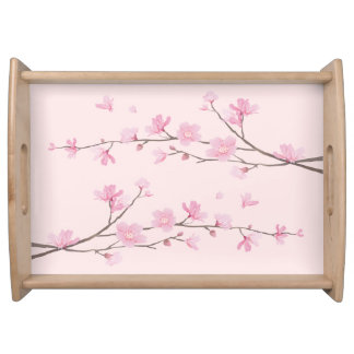 Bandeja Flor de cerejeira - rosa