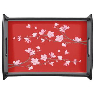 Bandeja Flor de cerejeira - vermelho