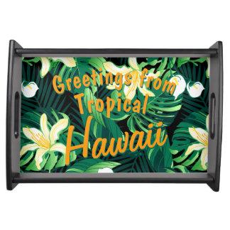 Bandeja Floral luxúria tropical