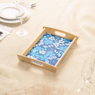 Bandeja Flores azuis & brancas
