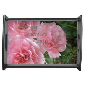Bandeja Flores felizes do dia das mães