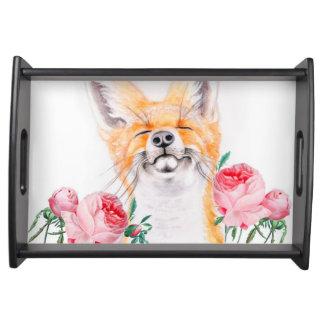 Bandeja Foxy feliz e rosas