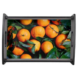 Bandeja Frutas alaranjadas frescas
