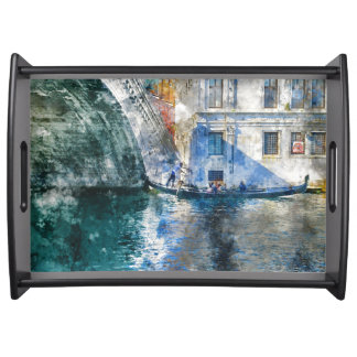 Bandeja Gôndola no canal grande de Veneza Italia