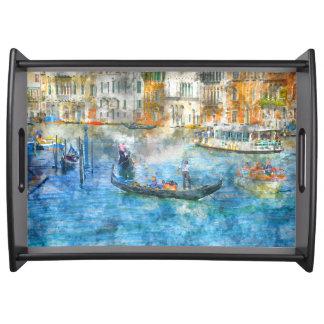 Bandeja Gôndola no canal grande em Veneza Italia