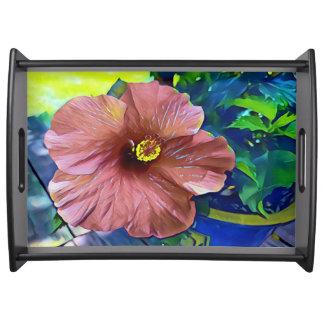 Bandeja Hibiscus de florescência tropical artístico bonito