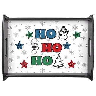 Bandeja Ho-Ho-Ho design do Natal