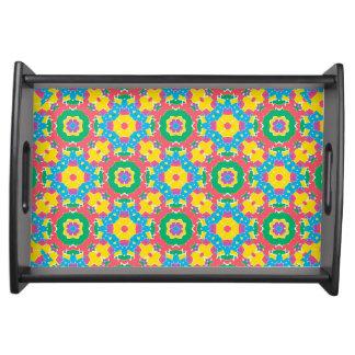 Bandeja Impressão colorido geométrico