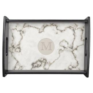 Bandeja Inicial de mármore branca moderna do costume da