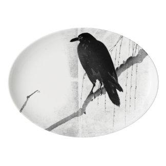 Bandeja japonesa do corvo