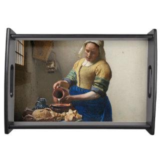 Bandeja JOHANNES VERMEER - O milkmaid 1658