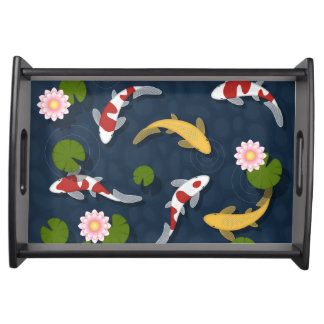 Bandeja Lagoa de peixes de Koi do japonês