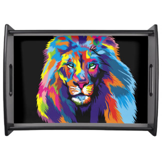 Bandeja Leão colorido