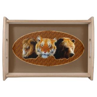 Bandeja Leão e tigre e urso