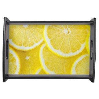 Bandeja Limões amarelos da fatia