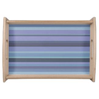 Bandeja listras horizontais Azul-cinzentas