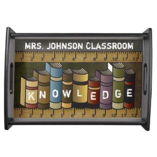 Bandeja Livros dos professores de conhecimento