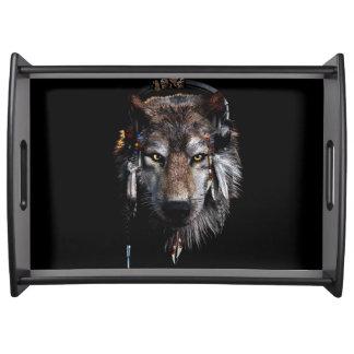 Bandeja Lobo indiano - lobo cinzento