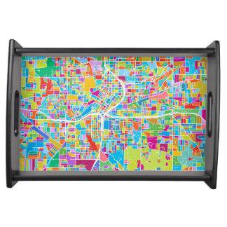Bandeja Mapa colorido de Atlanta