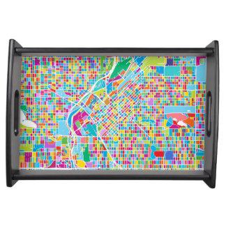Bandeja Mapa colorido de Denver