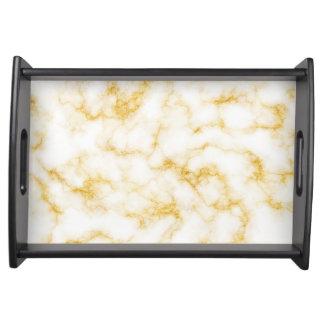 Bandeja Mármore elegante - branco do ouro