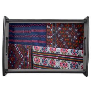 Bandeja Matérias têxteis coloridas de Bhutan