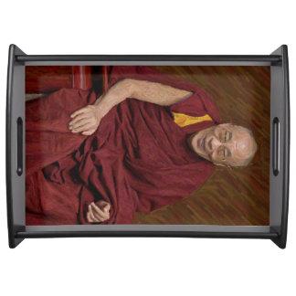 Bandeja Meditação budista Yog do budismo de Dalai Lama