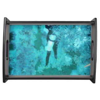 Bandeja Mergulhador e bolhas de mergulhador