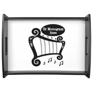 Bandeja Monograma preto e branco da harpa