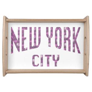 Bandeja Nova Iorque no rosa do rosa do primavera