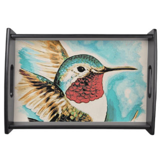 Bandeja O colibri bonito da costela