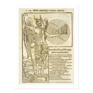 Bandeja, o deus universal, e os elementos ele cartão postal