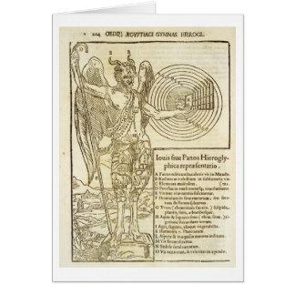 Bandeja, o deus universal, e os elementos ele repr cartão comemorativo