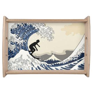 Bandeja O grande surfista de Kanagawa