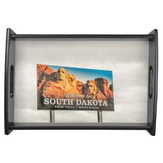 Bandeja O sinal de boas-vindas novo de South Dakota